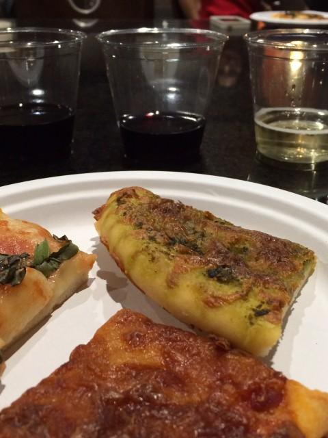 Wine & Pizza Pairing. [Photo Credit: @flowersbyb]